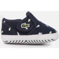 Lacoste Babies' Gazon Crib 116 2 Pumps - Navy/White - UK 3 Baby - Blue/White