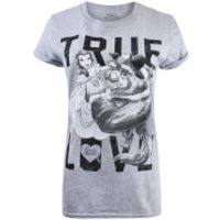 Beauty and the Beast Ladies True Love T-Shirt - Sport Grey - XL - Grey - Beauty Gifts