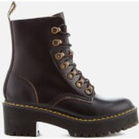Dr. Martens Women's Leona Leather Lace Up Heeled Boots - Black - UK 5 - Black