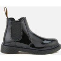 Dr. Martens Kids' Banzai Patent Lamper Leather Chelsea Boots - Black - UK 13 Kids - Black