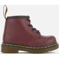 Dr. Martens Toddlers Brooklee B Leather Lace Up Boots - Cherry Red - UK 3 Toddlers - Red