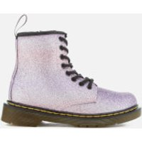 Dr. Martens Kids' Delaney Glitter 8-Eye Lace Up Boots - Pink/Multi - UK 1 Kids - Pink