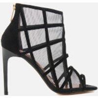 Ted Baker Women's Xstal Suede/Patent Caged Heeled Sandals - Black - UK 3 - Black