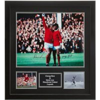 George Best and Denis Law Dual Signed and Framed 16 x 20 Photograph - Law Gifts