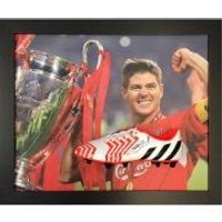 Steven Gerrard Signed and Framed Boot with Domed Frame Finish