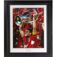 Steven Gerrard Signed and Framed 23 x 20 Photograph