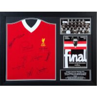 Liverpool 77 Signed and Framed Shirt (Includes Ten Signatures)