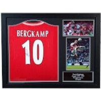 Dennis Bergkamp Signed and Framed Arsenal Shirt