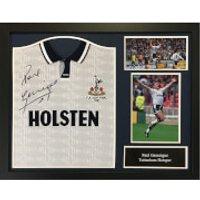 Paul Gascoigne Signed and Framed Tottenham Hotspurs Shirt