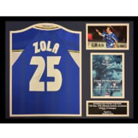 Gianfranco Zola Signed and Framed Chelsea Shirt