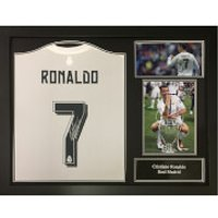Cristiano Ronaldo 2016 Signed and Framed Real Madrid Shirt