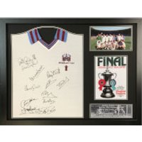 West Ham 1980 Signed and Framed Shirt (Includes 12 Signatures)