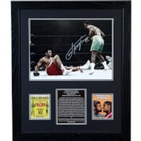 Joe Frazier Signed and Framed 16 x 12 Photograph