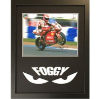 Carl Fogarty Signed and Framed 16 x 20 Photograph