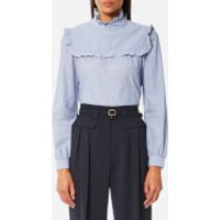 A.P.C. Women's Théa Blouse - Blue - EU 38/UK 10 - Blue