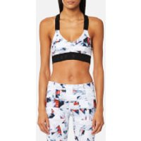 Varley Womens Gale Sports Bra - Geo Print - S - White