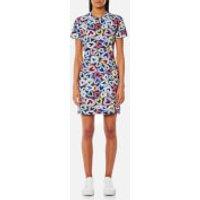 Love Moschino Womens Heart T-Shirt Dress - Multi - IT 44/UK 12 - Multi