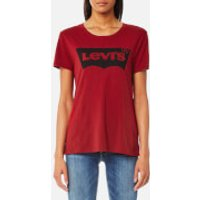 Levi's Women's The Perfect T-Shirt - Better Batwing Red Dahlia - S - Red