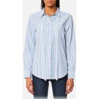 Levi's Women's Sidney One Pocket Boyfriend Shirt - Basswood Quiet Harbor - L - Blue