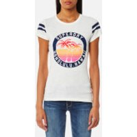 Superdry Womens Beach Surplus T-Shirt - Jungle Cream Slub - M - White