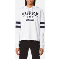Superdry Womens Riverside Crop Hooded Jumper - Pearl Marl - M - Grey