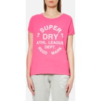 Superdry Womens Athletic Leisure T-Shirt - 90s Raspberry Pink - XS