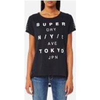 Superdry Womens NYC Burnout Stripe Boyfriend T-Shirt - Eclipse Navy - S - Blue