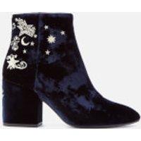 Ash Womens Elixir Velvet Heeled Ankle Boots - Midnight - UK 6 - Blue