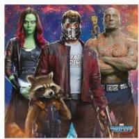 Guardians of the Galaxy Vol. 2 (Galaxy Team) 40 x 40cm Canvas Print