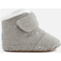 TOMS Babies' Cuna Layette Herringbone Boots - Drizzle Grey - UK 2/US 3 Baby - Grey