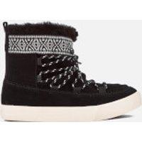 TOMS Womens Alpine Waterproof Suede Sheepskin Boots - Black - UK 5/US 7 - Black