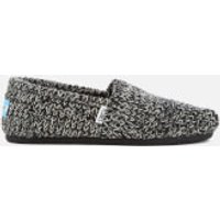 TOMS Womens Seasonal Sweater Knit/Faux Shearling Lined Slip On Pumps - Black - UK 6/US 8 - Grey