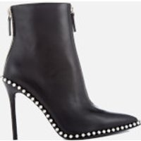 Alexander Wang Eri Leather Studded Heeled Ankle Boots - Black