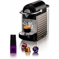 Nespresso by KRUPS XN300540 Pixie Coffee Machine - Titanium - Nespresso Gifts