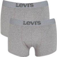 Levis Mens 200SF 2-Pack Trunks - Middle Grey Melange - M - Grey