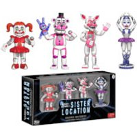 Funko Five Nights at Freddy's 2 Inch Action Figures Sister Location (4 Pack) - Sister Gifts