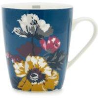 Joules Single Bone China Mug - Blue Poppy Posy - China Gifts