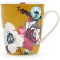 Joules Single Bone China Mug - Gold Poppy Posy - China Gifts