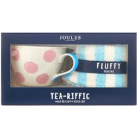 Joules Fluffy Sock and Mug Gift Set