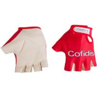 Cofidis Lycra Mitts 2017 - Red/White - S - Red/White