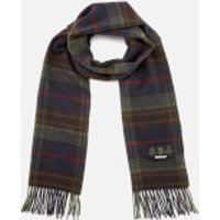 Barbour Mens Brignall Lambswool Scarf - Olive/Brown
