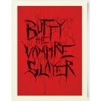Buffy The Vampire Slayer Stylised 30x40cm Print - Vampire Gifts