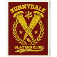 Buffy The Vampire Slayer Sunnydale High Slayers Club 30x40cm Print - Vampire Gifts
