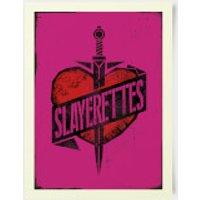 Buffy The Vampire Slayer Slayer Heart And Dagger 30x40cm Print - Vampire Gifts