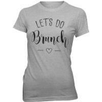 Lets Do Brunch Womens Slogan T-Shirt - Grey - XXL