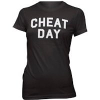 Cheat Day Womens Slogan T-Shirt - M - Black