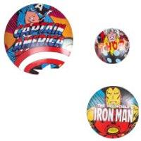Marvel Set of 3 Metal Wall Badges Wall Art