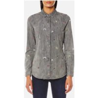 Maison Scotch Womens All-Over Embroidered Shirt - Combo B - S - Grey