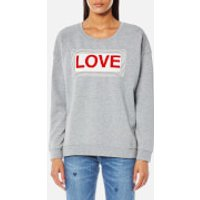 Maison Scotch Womens Love Sweatshirt - Grey Melange - L - Grey