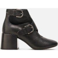 MM6 Maison Margiela Women's Double Buckle Heeled Ankle Boots - Black - UK 5 - Black